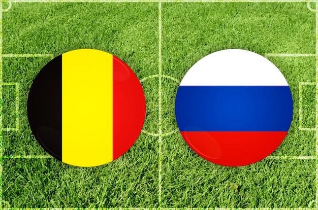 Voetbalwedstrijd belgië vs rusland