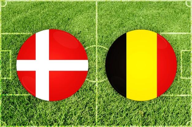 Voetbalwedstrijd denemarken vs belgië