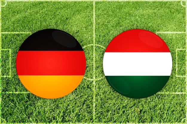 Voetbalwedstrijd duitsland vs hongarije