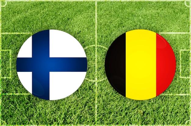 Voetbalwedstrijd finland vs belgië