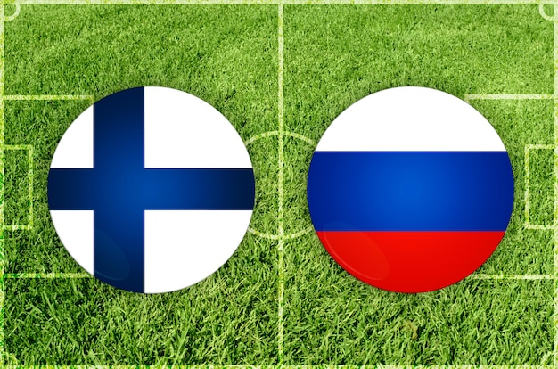 Voetbalwedstrijd finland vs rusland