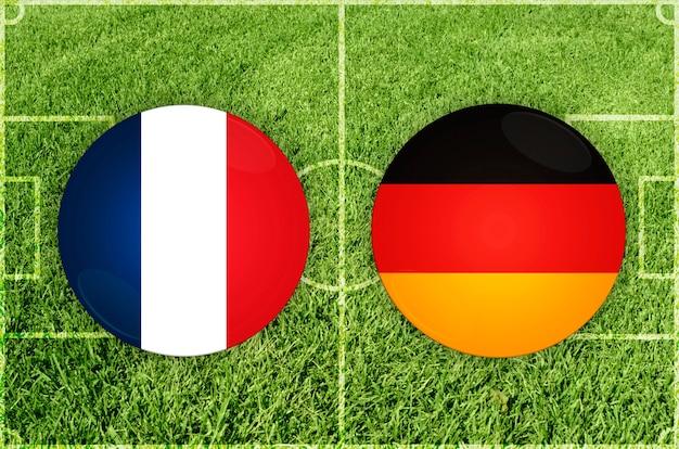 Voetbalwedstrijd frankrijk vs duitsland