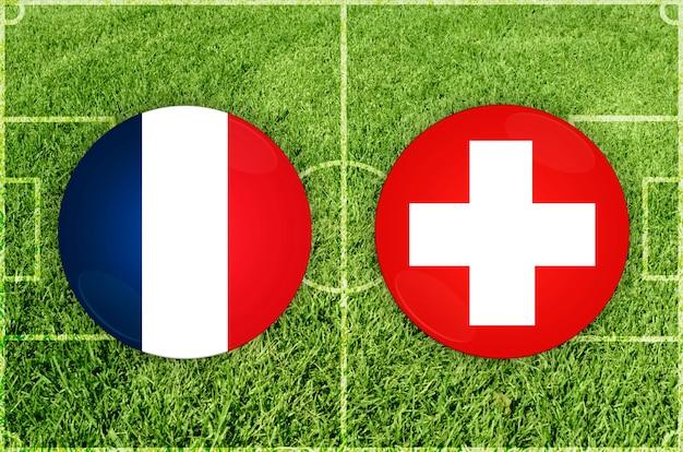 Voetbalwedstrijd frankrijk vs zwitserland
