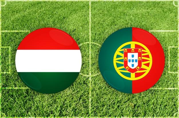 Voetbalwedstrijd hongarije vs portugal