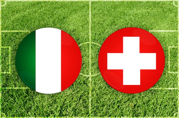 Voetbalwedstrijd italië vs zwitserland
