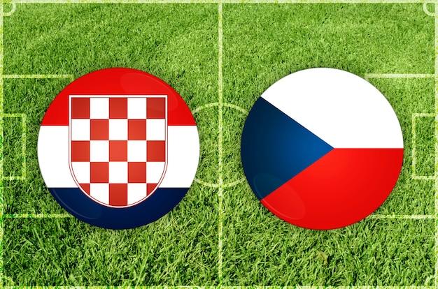 Voetbalwedstrijd kroatië vs tsjechië