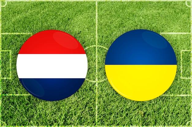 Voetbalwedstrijd nederland vs oekraïne