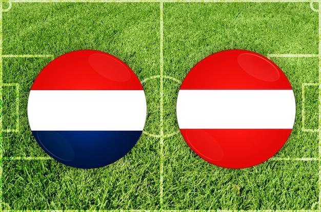 Voetbalwedstrijd nederland vs oostenrijk