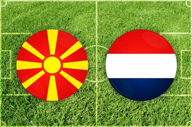 Voetbalwedstrijd noord-macedonië vs nederland