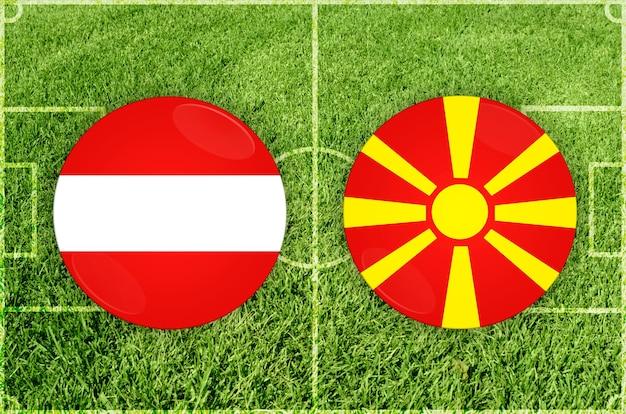 Voetbalwedstrijd oostenrijk vs noord-macedonië