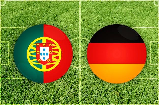 Voetbalwedstrijd portugal vs duitsland