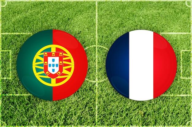 Voetbalwedstrijd portugal vs frankrijk