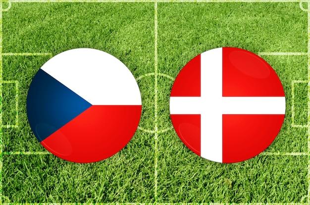 Voetbalwedstrijd tsjechië vs denemarken