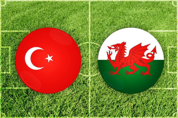 Voetbalwedstrijd turkije vs wales