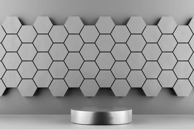 Voetstuk voor weergave, platform voor ontwerp, blanco productstandaard. 3d-rendering.