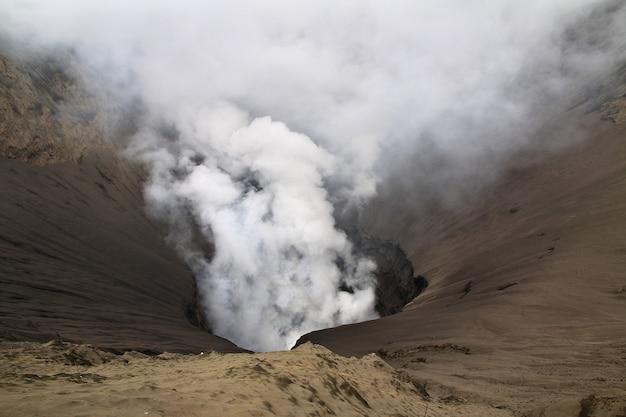 Volcano bromo in het eiland van java, indonesië