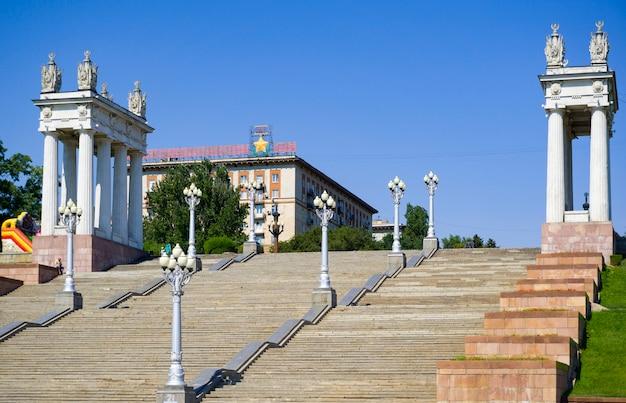 Volgograd. dijk van de stad