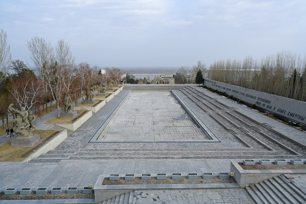 Volgograd, rusland - 12 juni 2021: memorial complex