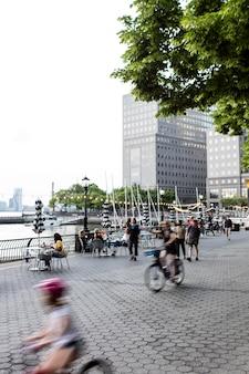 Volkstellingsinformatie in een stadssamenstelling