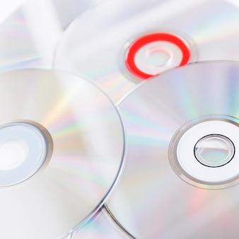Volledig frame van compact discs