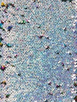 Volledig frame van zilveren lovertjes abstracte achtergrond