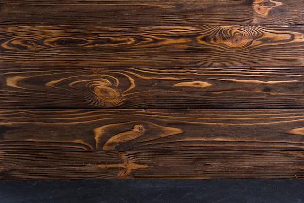 Volledig kader van houten geweven achtergrond