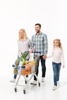 Volledig lengteportret van een gelukkig gezin