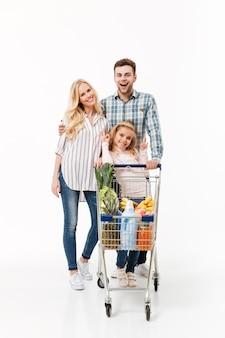 Volledig lengteportret van een mooie familie
