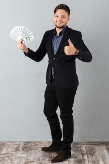 Volledig lengteportret van een zekere zakenman