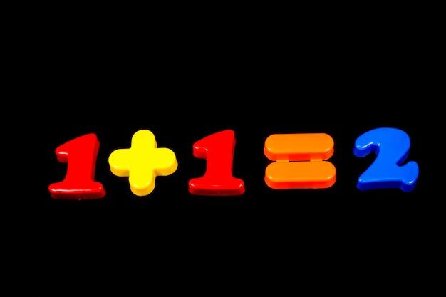 Volledige kleuren nummer op een zwarte achtergrond.