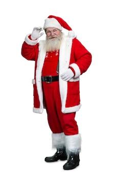Volledige lengte van hogere kerstman.