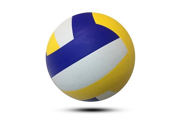 Volleybal op witte achtergrond