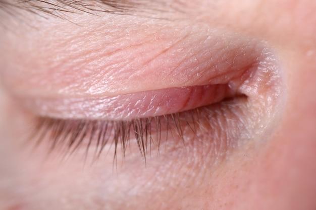 Volwassen gezicht in detail close-up