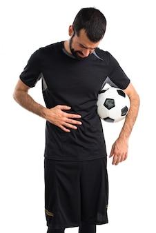 Volwassen man atleet ziekte professioneel