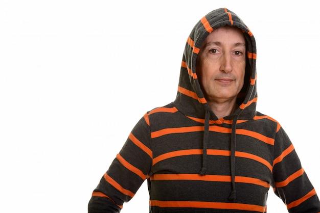 Volwassen man met hoodie