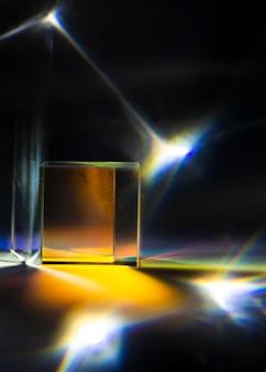 Vooraanzicht abstract licht prisma-effect