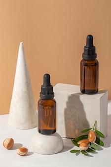 Vooraanzicht argan productsamenstelling