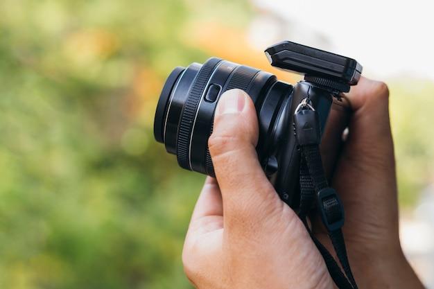 Vooraanzicht camera apparaat voor werk