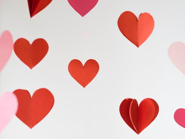 Vooraanzicht decoratieve harten