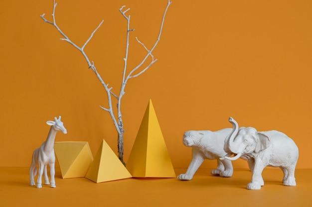 Vooraanzicht dieren arrangement