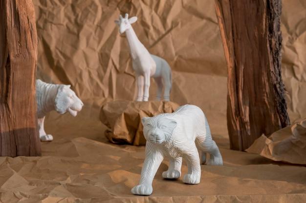 Vooraanzicht dieren samenstelling