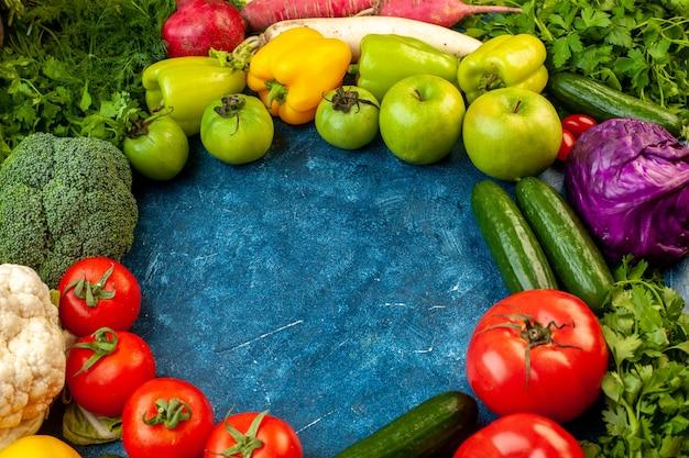 Vooraanzicht groente