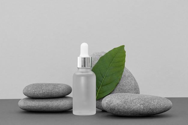 Vooraanzicht huidproduct dropper assortiment