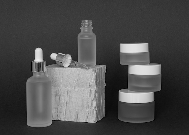 Vooraanzicht huidproduct druppelaar samenstelling