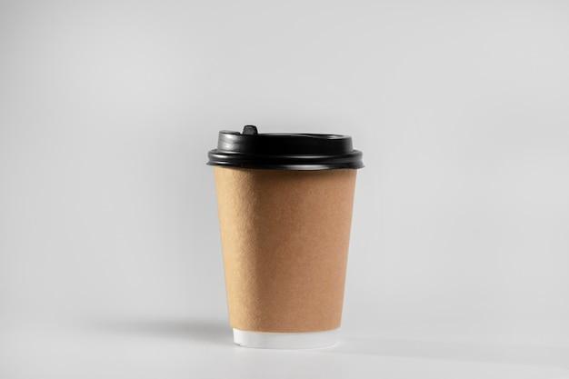 Vooraanzicht lege koffiekopje