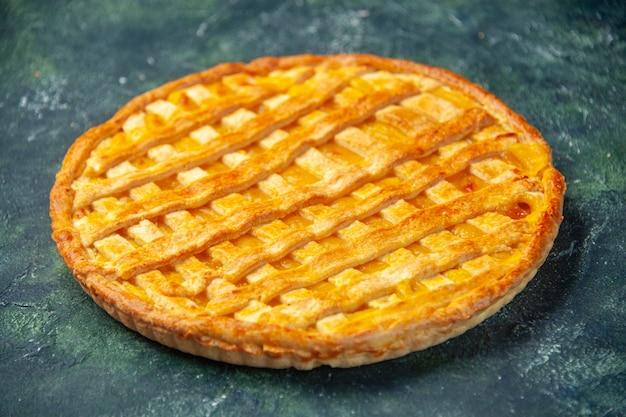 Vooraanzicht lekkere jelly pie op donkerblauwe achtergrond