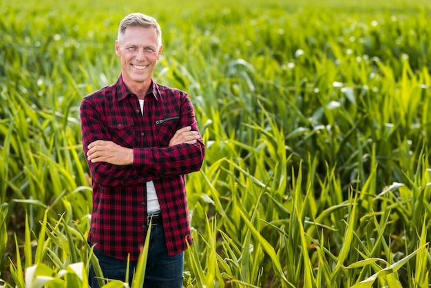 Vooraanzicht smiley agronoom