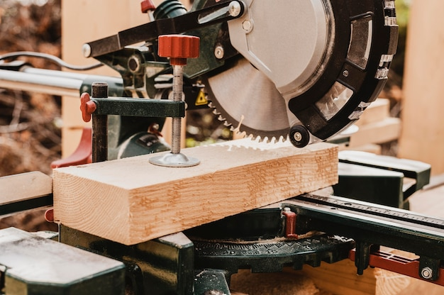 Vooraanzicht timmerwerk gereedschapsmachine