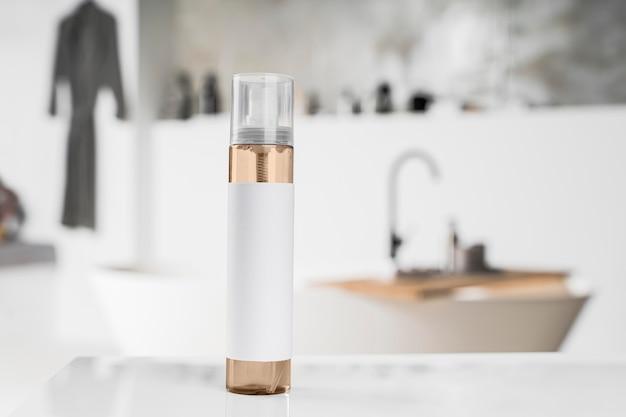 Vooraanzicht van cosmetische productverpakkingen
