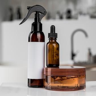 Vooraanzicht van de verpakking van cosmetische producten